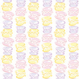Pale color macaroon cake seamless pattern Royalty Free Stock Photos