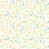 Pale color pear fruit seamless pattern for fabric Stock Photography