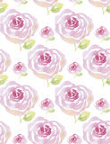 Pale color rose flowers seamless pattern. Royalty Free Stock Image