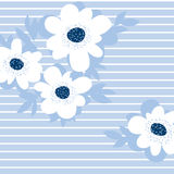 Pale color summer floral pattern for surface design. Royalty Free Stock Photo