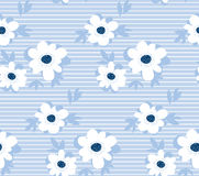 Pale color summer floral seamless pattern Royalty Free Stock Photo