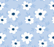 Pale color summer floral seamless pattern Royalty Free Stock Photos