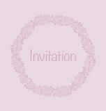 Pale color tender rose floral invitation card vector illustration Royalty Free Stock Photo