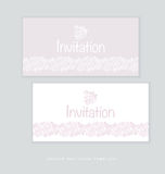 Pale color tender rose floral invitation Stock Photography