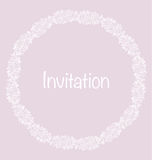 Pale color tender rose floral invitation card vector illustration Royalty Free Stock Images