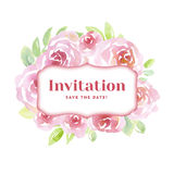 Pale color tender rose flowers. card template Stock Image