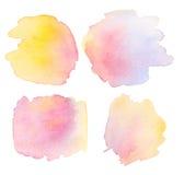 Pale color watercolor Stock Image