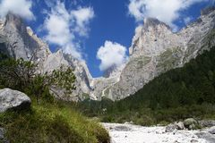 Pale di San Martino. Mountains in Trentino (Italy Royalty Free Stock Photo