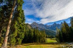 Pale di San Martino in de Herfst Stock Foto