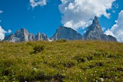 Pale di San Martino, dolomia - Italia Fotografie Stock Libere da Diritti
