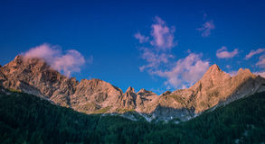 Pale di San Martino, Dolomiti Stock Photography