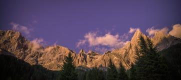 Pale di San Martino, Dolomiti Stock Photo