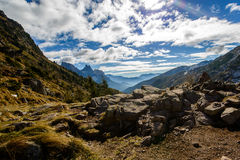 Pale di San Martino en automne Photographie stock
