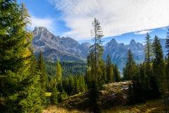 Pale di San Martino en automne Images stock