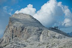 Pale di San Martino highland, Dolomites. Panoramic view of Cima Rosetta plateau of the Pale di San Martino, Dolomites - Italy stock photo