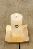 Pale Feng Shui candle royalty free stock photography