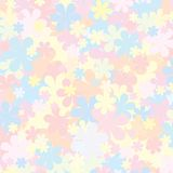 Pale Floral Pattern. Pastel Backdropfor for Design Stock Photo