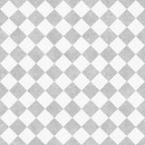 Pale Gray and White Diagonal Checkers on Textured Fabric Backgro Royalty Free Stock Photography