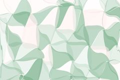 Pale green, beige polygonal abstract background. Low poly crystal pattern. Design with triangle shapes. Royalty Free Stock Photo