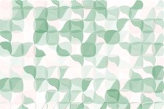 Pale green, beige polygonal abstract background. Low poly crystal pattern. Design with triangle shapes. Stock Image