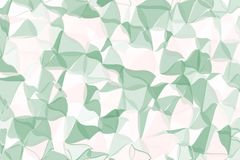 Pale green, beige polygonal abstract background. Low poly crystal pattern. Design with triangle shapes. Royalty Free Stock Image