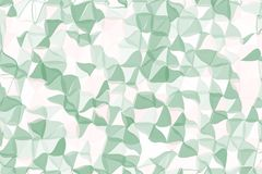 Pale green, beige polygonal abstract background. Low poly crystal pattern. Design with triangle shapes. Royalty Free Stock Photography