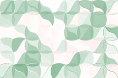 Pale green, beige polygonal abstract background. Low poly crystal pattern. Design with triangle shapes. Royalty Free Stock Photos
