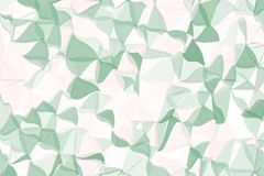 Pale green, beige polygonal abstract background. Low poly crystal pattern. Design with triangle shapes. Royalty Free Stock Images