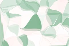 Pale green, beige polygonal abstract background. Low poly crystal pattern. Design with triangle shapes. Stock Photo