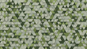 Pale green extruded triangles background 3D render. Wall of pale green extruded triangles. Abstract hipster background with geometric elements. 3D render Stock Photo