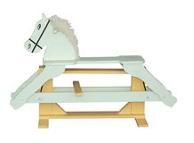 Pale Green Rocking Horse Royalty Free Stock Photography