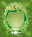 Pale green shield Stock Photos