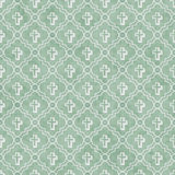 Pale Green and White Cross Symbol Tile Pattern Repeat Background Royalty Free Stock Images
