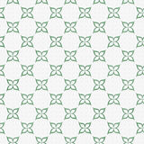 Pale Green and White Flower Symbol Tile Pattern Repeat Backgroun Stock Image