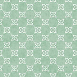 Pale Green and White Flower Symbol Tile Pattern Repeat Backgroun Royalty Free Stock Photo