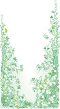 Pale greenery II. (fun vignette illustration Stock Images