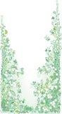 Pale greenery II. (fun vignette illustration stock illustration