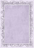 Pale lilac conice for painting or postcard Vintage frame border retro. Conice for painting or postcard linework Black Conice for painting or postcard Vintage Royalty Free Stock Photography