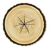 Pale Log End illustration de vecteur