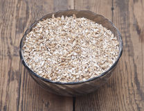 Pale malt barley in a glass bowl, Stock Image