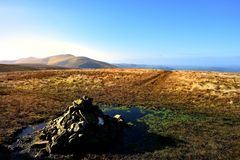 Cairn on Grea Sca Fell Royalty Free Stock Photos