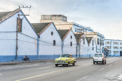 Pale morning sparse traffic Havana Stock Photos