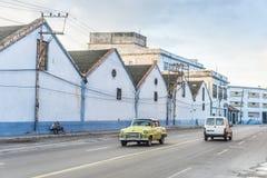 Pale morning sparse traffic Havana Stock Photos