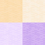 Pale One Color Abstract Seamless Pattern. With Orange and Purple Ocean Waves Stock Photos