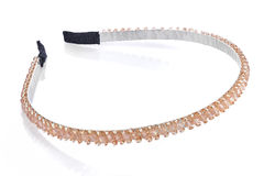 Pale orange head band with beads and semiprecious stones, isolat Royalty Free Stock Photography