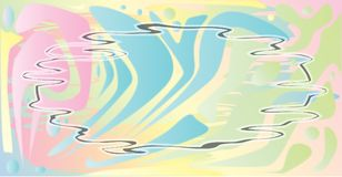 Pale Pastel Abstract Jazz Background Ilustración del Vector
