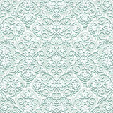 Pale pattern. Abstract pale green floral seamless pattern, decorative fabric ornament Stock Image