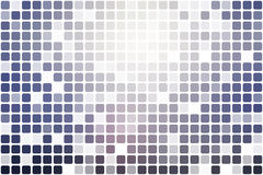 Pale pink blue occasional opacity mosaic over white Royalty Free Stock Photo
