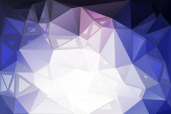 Pale pink blue random sizes low poly background Stock Photography