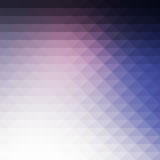 Pale pink blue rows of triangles background, square Stock Images